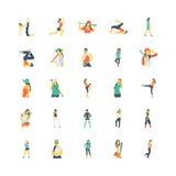 Menselijke Kleuren Vectorpictogrammen 4 royalty-vrije illustratie