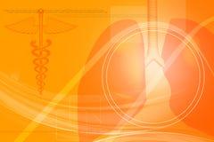 menselijke longen met medisch symbool Stock Afbeeldingen