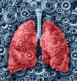 Menselijke longenFunctie royalty-vrije illustratie