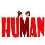 Menselijke meisje en jongen Stock Afbeeldingen