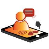 Menselijke mobiele telefoon Vector Illustratie