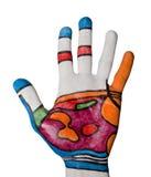 Menselijke palm met acupunctuurregeling Royalty-vrije Stock Afbeelding