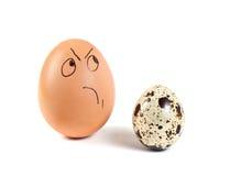 Menselijke personen op eieren Royalty-vrije Stock Fotografie