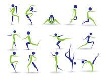 Menselijke pictogrammen Stock Afbeeldingen