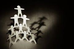 Menselijke piramide Royalty-vrije Stock Foto