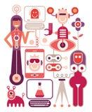 Menselijke prestatieslaboratorium - vectorillustratie Stock Fotografie