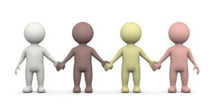 Menselijke Rassen samen, Gelijkheidsconcept Stock Afbeeldingen