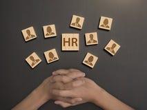 Menselijke resourc, uitgezocht beoordelingspersoneel concept u stock afbeelding