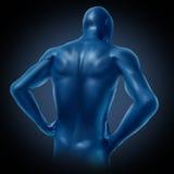 Menselijke rug stock illustratie