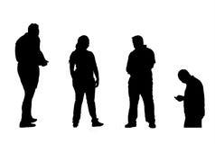 Menselijke silhouetten Stock Fotografie