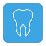 Menselijke tandenpictogrammen geplaatst die voor tandgeneeskundekliniek worden geïsoleerd Lineair tandartsembleem Vector Royalty-vrije Stock Afbeeldingen