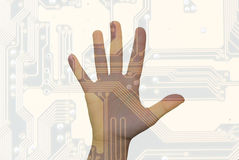 Menselijke technologie Stock Foto's
