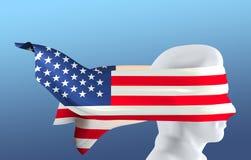 Menselijke Vlag 2 Gezicht de V.S. stock illustratie