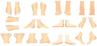Menselijke voet Stock Fotografie