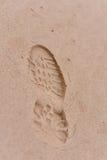 Menselijke voetstappen stock afbeelding