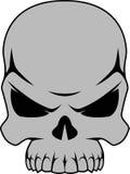Menselijke zwart-witte schedel Stock Afbeeldingen