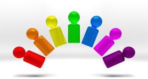Mensen 3 van de regenboog Stock Foto