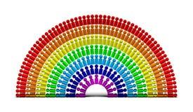 Mensen 6 van de regenboog royalty-vrije illustratie