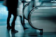 Mensen aan een lift Stock Foto