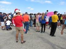 Mensen in Airshow Stock Fotografie