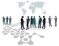 Mensen als deel van mondiaal net Stock Fotografie