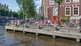 Mensen in Amsterdam Stock Foto