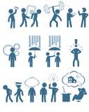 Mensen in bedrijfsreeks Stock Afbeelding
