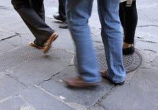 Mensen in beweging Stock Foto's
