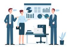 Mensen bij bedrijfspresentatie vectorillustratie stock illustratie