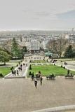 Mensen bij Butte Montmartre, Parijs Stock Foto
