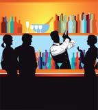 Mensen bij de bar Stock Afbeelding