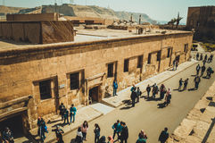 mensen bij de citadel van Kaïro Stock Foto's