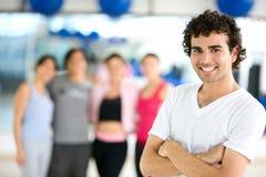 Mensen bij de gymnastiek Royalty-vrije Stock Fotografie