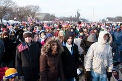 Mensen bij de Inauguratie stock foto