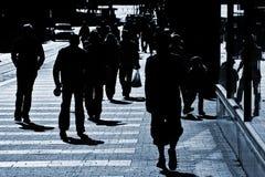 Mensen bij de straat royalty-vrije stock afbeelding