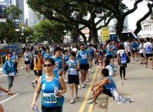 Mensen bij nationale sportengebeurtenis, Singapore Stock Fotografie