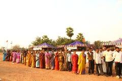Mensen bij plattelandsgebied India Royalty-vrije Stock Foto's