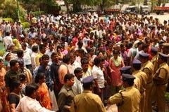 Mensen bij plattelandsgebied India Royalty-vrije Stock Afbeeldingen