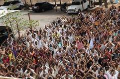 Mensen bij plattelandsgebied India Stock Foto's