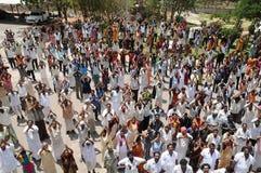 Mensen bij plattelandsgebied India Stock Afbeeldingen