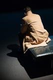 Mensen binnen Museum van Moderne Kunst in NYC Royalty-vrije Stock Afbeelding
