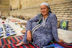 Mensen in BOUKHARA, OEZBEKISTAN Stock Afbeelding