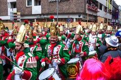 Mensen in Carnaval in Keulen Royalty-vrije Stock Foto's