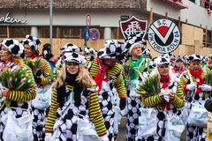Mensen in Carnaval in Keulen royalty-vrije stock fotografie