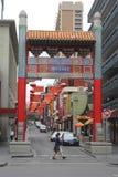 Mensen in Chinatown in Melbourne Australië Royalty-vrije Stock Foto's