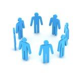 Mensen in cirkel Stock Foto