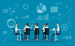 Mensen commerciële team werkende vergadering royalty-vrije illustratie