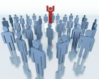 Mensen - commercieel teamconcept Stock Foto