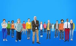 Mensen Communautaire Samenhorigheid Collectief Team Concept Stock Foto's