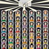 Mensen in de bioskoop Royalty-vrije Stock Foto